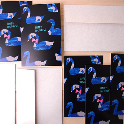 Swan Holiday Card Set (set of 5) 00003