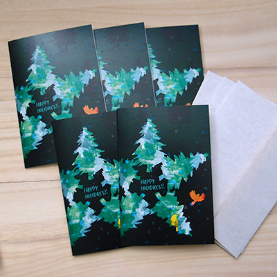 Star Tree Holiday Card Set (set of 5) 00006
