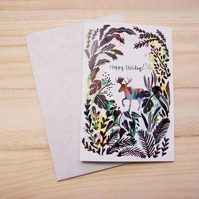 Moose Holiday Card 00007