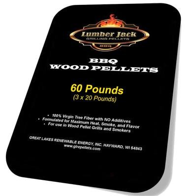 60 Pound Lumber Jack BBQ Pellet Variety Pack (Select 3 20-Pound Bags)