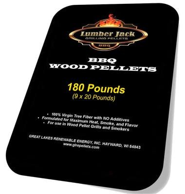 180 Pound Lumber Jack BBQ Pellets Variety Pack (Select 9 20-Pound Varieties)