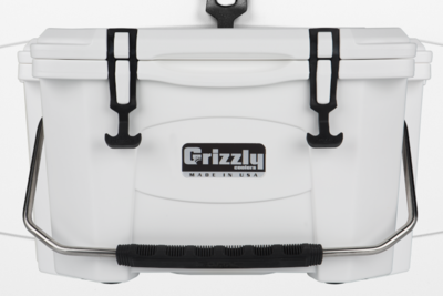 Grizzly 20 Quart Cooler - White (Free Shipping)