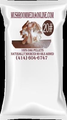 100% Oak Mushroom Pellets (Free shipping)