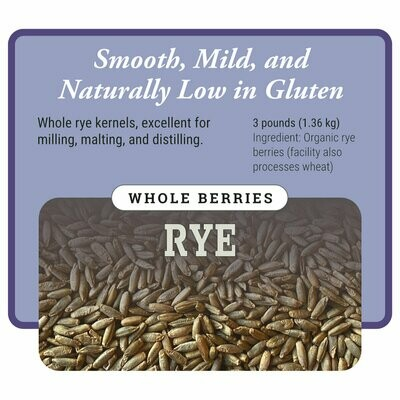 Organic Whole Rye Berries