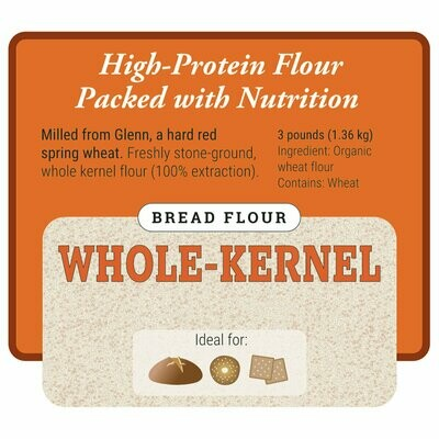 Whole-Kernel Bread Flour - Organic - Janie's Mill