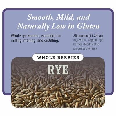 Organic Whole Rye Berries