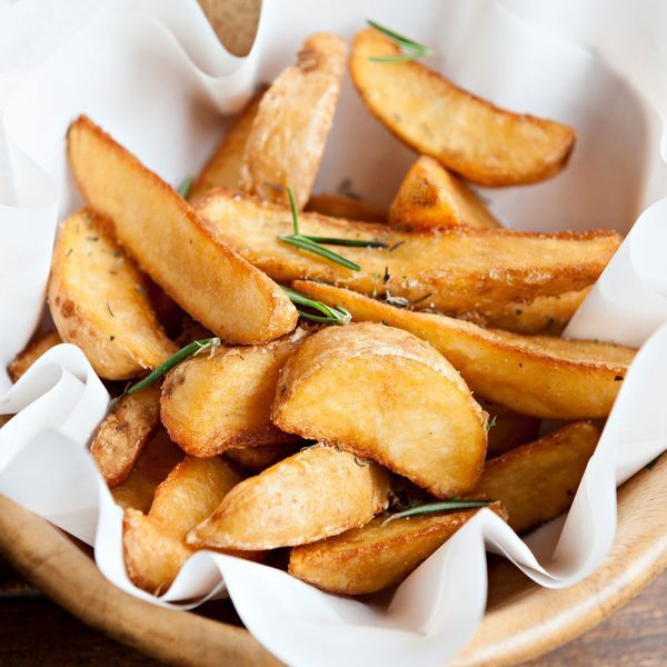 duck fat spray wedge potatoes
