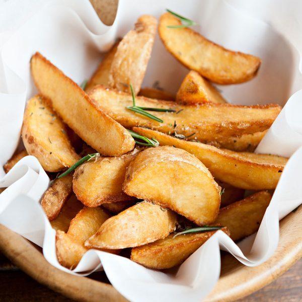duck fat spray wedge potatoes