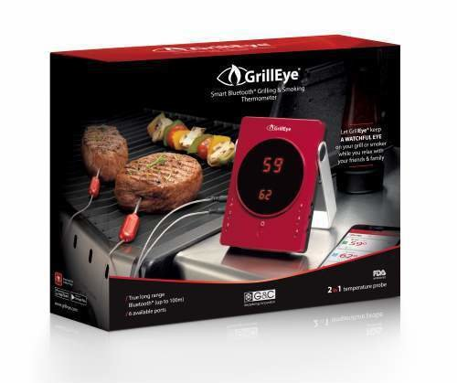 Grilleye Smart Bluetooth Grilling & Smoking Thermometer grilleye-kit-2probes