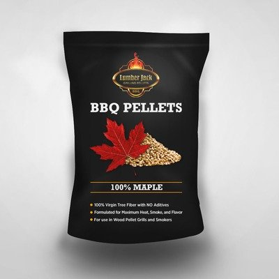 100% Maple Lumber Jack BBQ Pellets