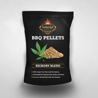 Hickory Blend Lumber Jack BBQ Pellets (40% Hickory/60% Red Oak)