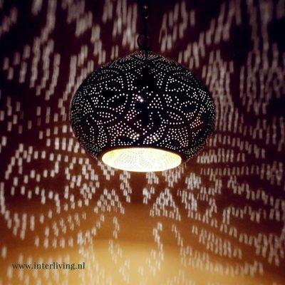 filigrain lampen, egyptische filigrainlamp met speciaal lichteffect