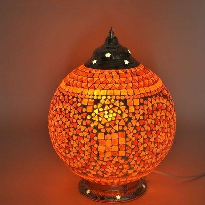 Magnifiek Oosterse tafellampen glasmozaïek - Indiaas, turks, marokkaans bloemen #VE08