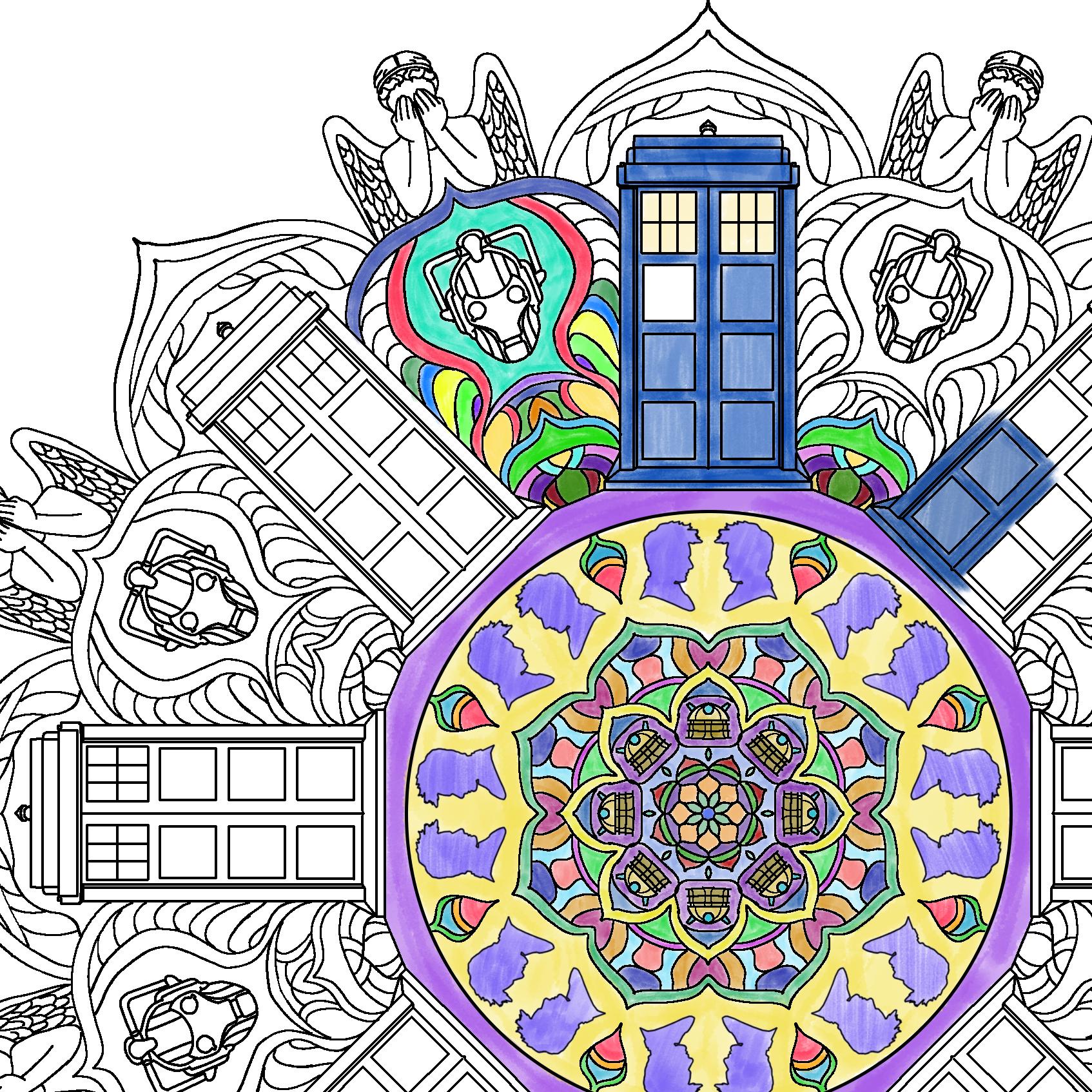 Mandala coloring book vol. 1 - download & print E-book
