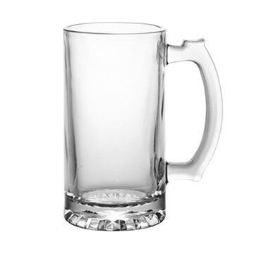Etched 13oz glass mini stein