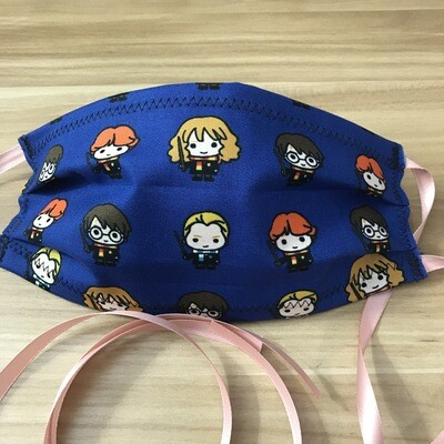 Harry Potter chibi characters fabric pleated mask