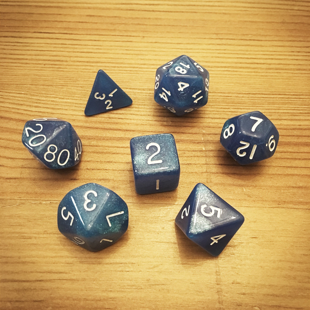 Dice Set - Blue Die004