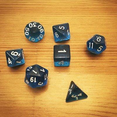 Dice Set - Blue