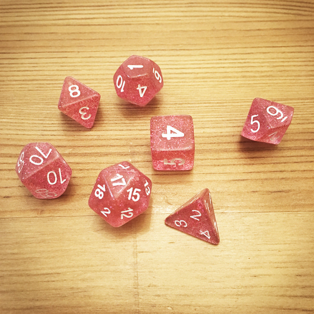 Dice Set - Pink Die 007