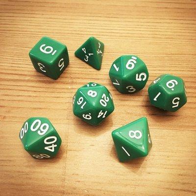 Dice Set - Green