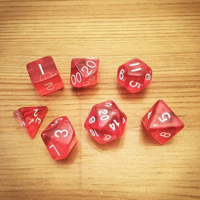 Dice Set - Red