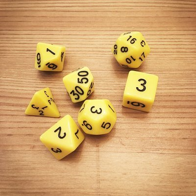 Dice Set - Yellow