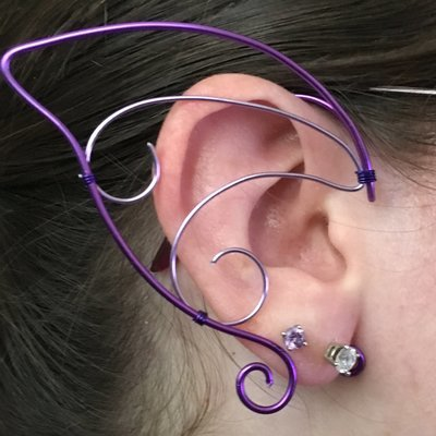 Elf Ear Cuff - Purple and Lavender