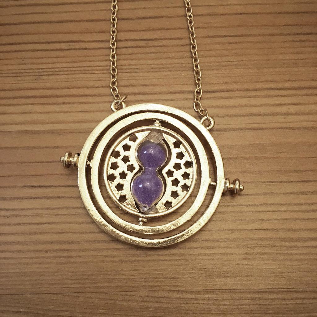 Hourglass necklace - purple TTPurple