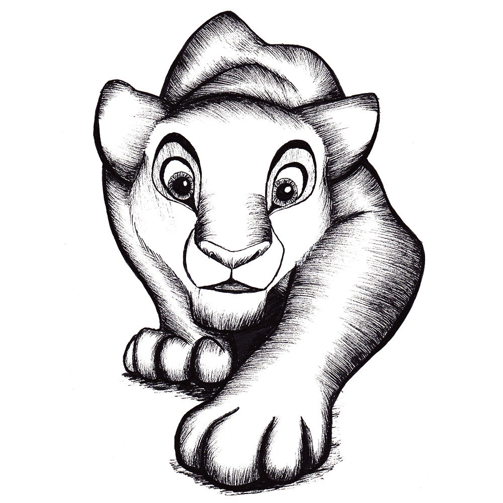 Lioness drawing Draw028