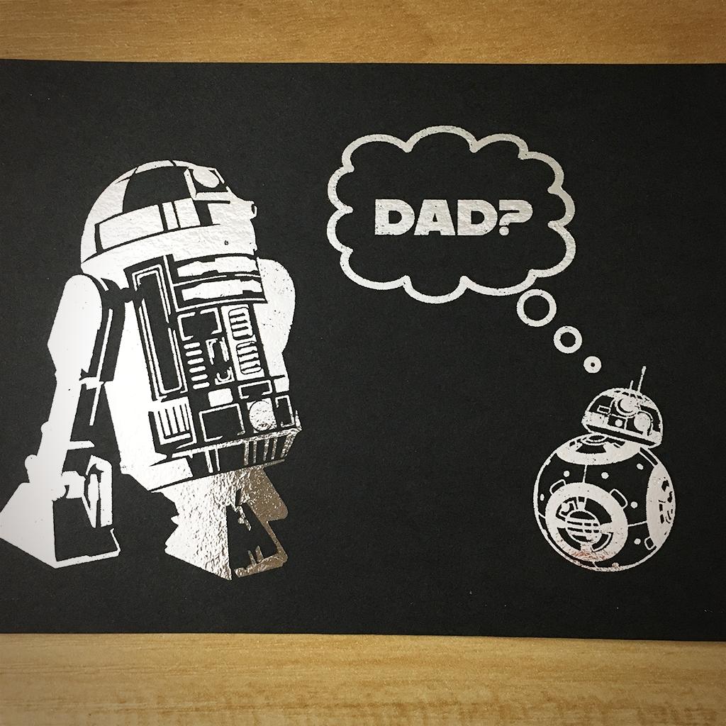 "4x6"" Dad? holographic print artholo03"