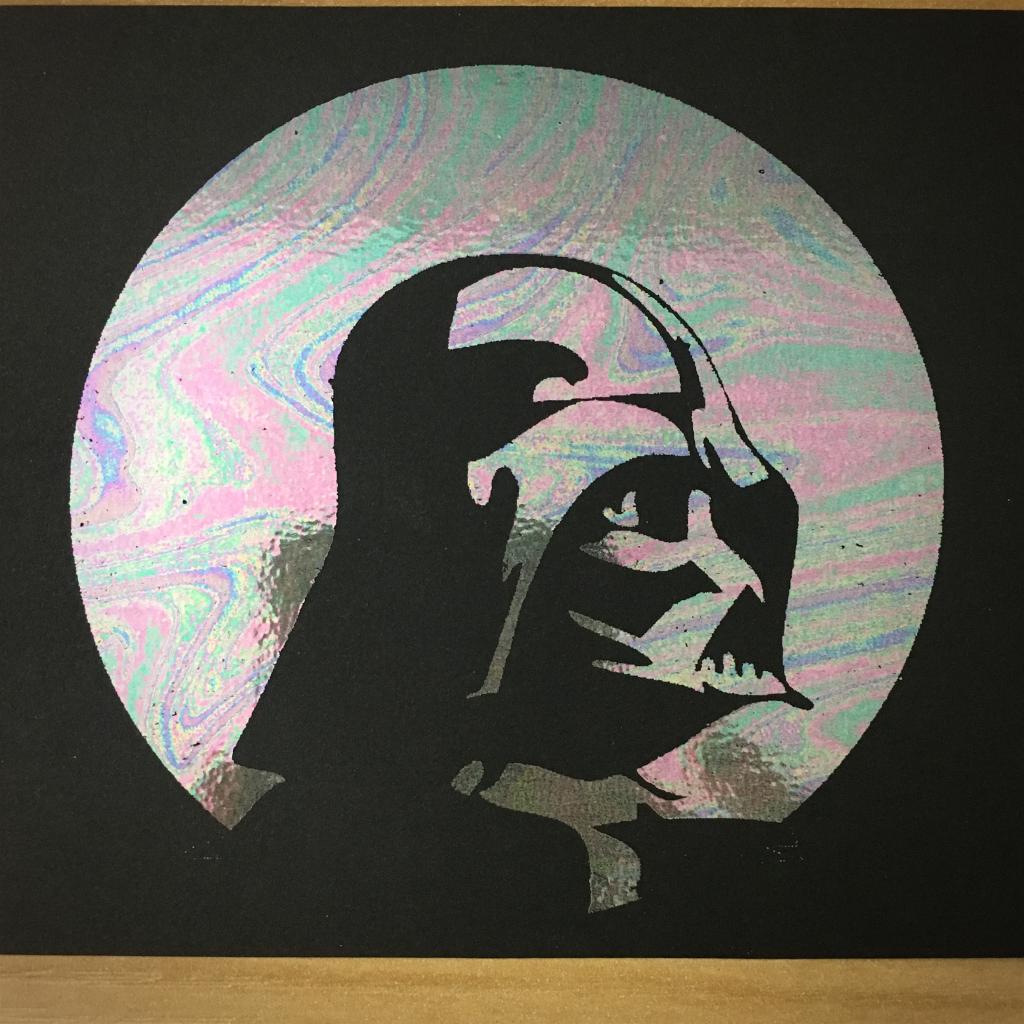 "4x6"" Evil lord holographic print artholo04"