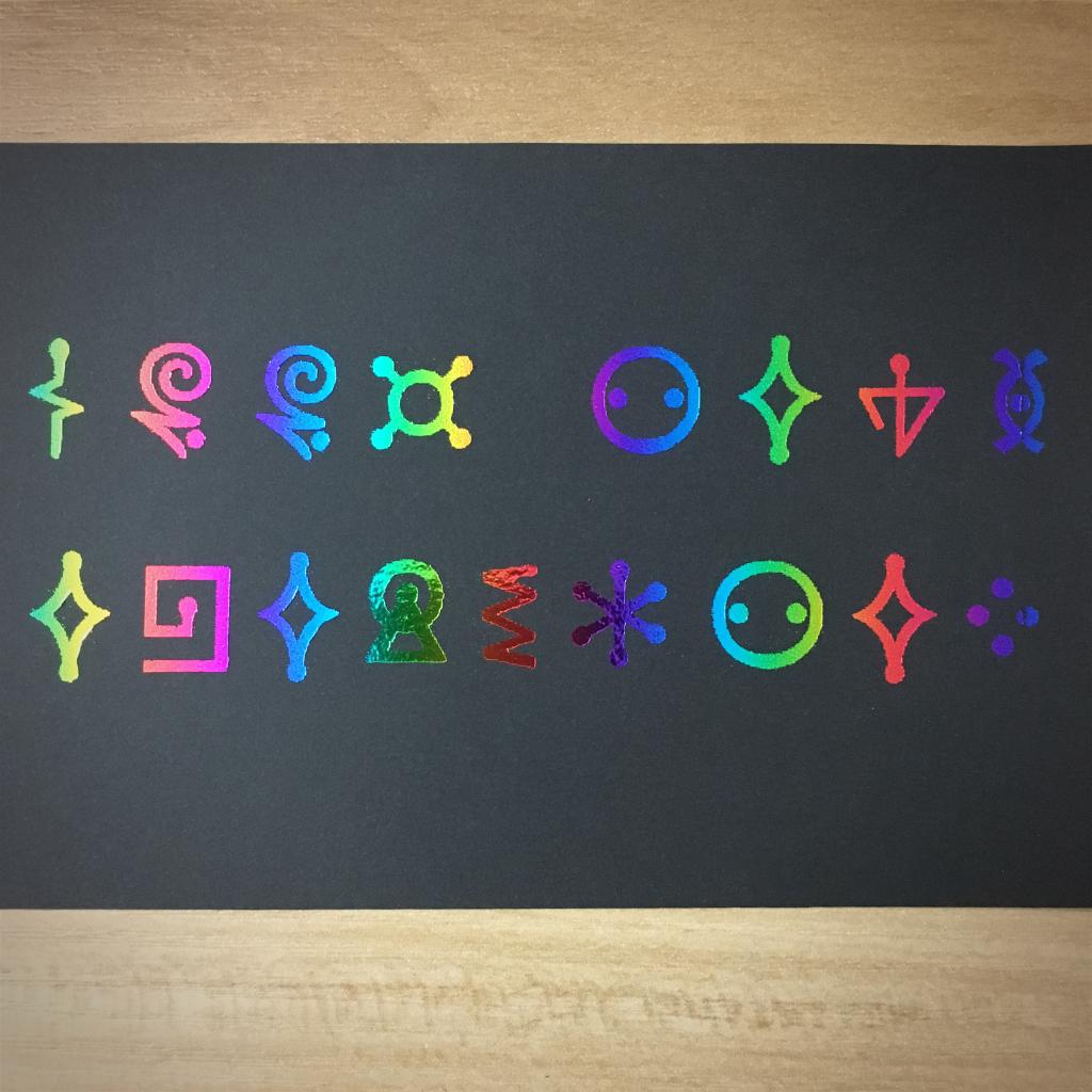 "4x6"" Good news everyone holographic print artholo10"