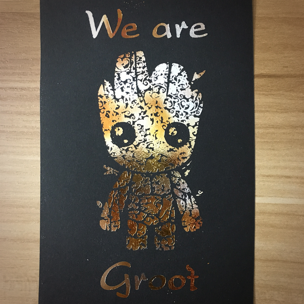 "4x6"" We are groot holographic print artholo11"