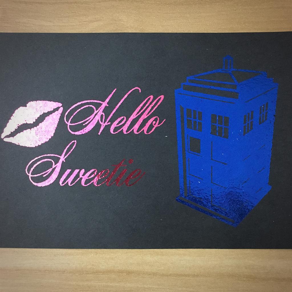 """4x6"""" Hello sweetie holographic print artholo12"""