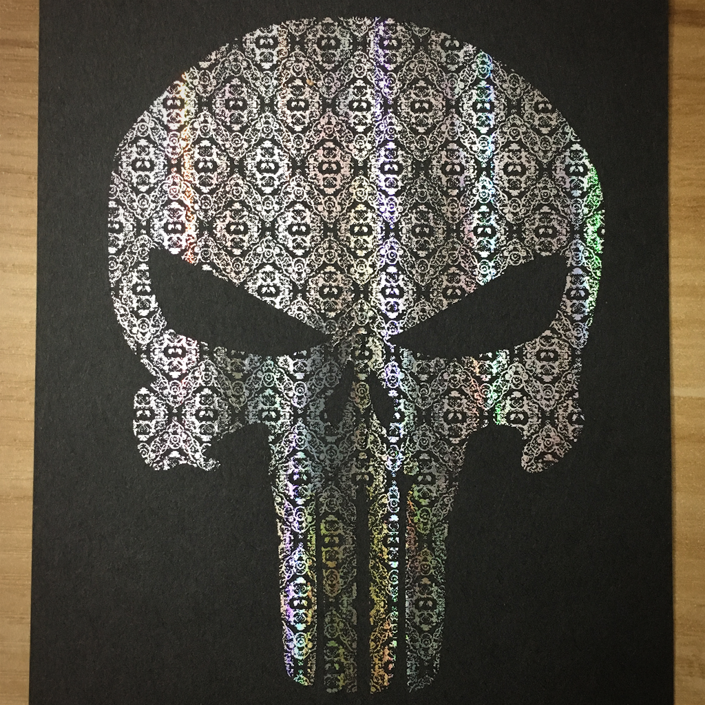 "4x6"" Skull holographic print artholo18"