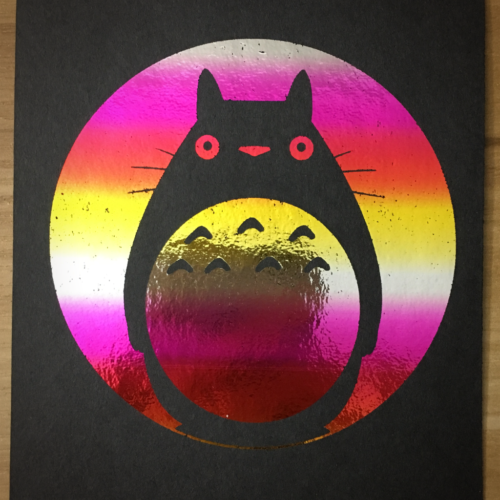 "4x6"" Totoro holographic print artholo22"