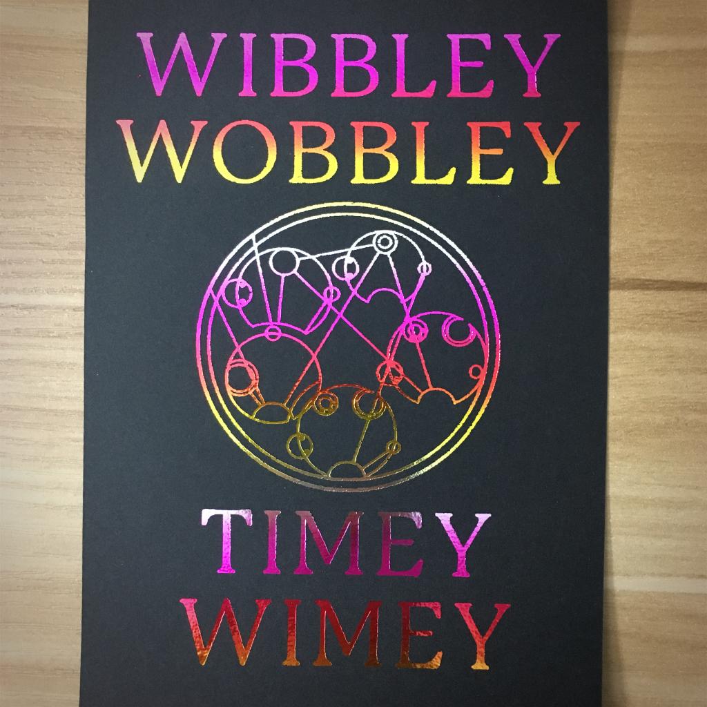 "4x6"" Wibbly wobbly holographic print artholo24"