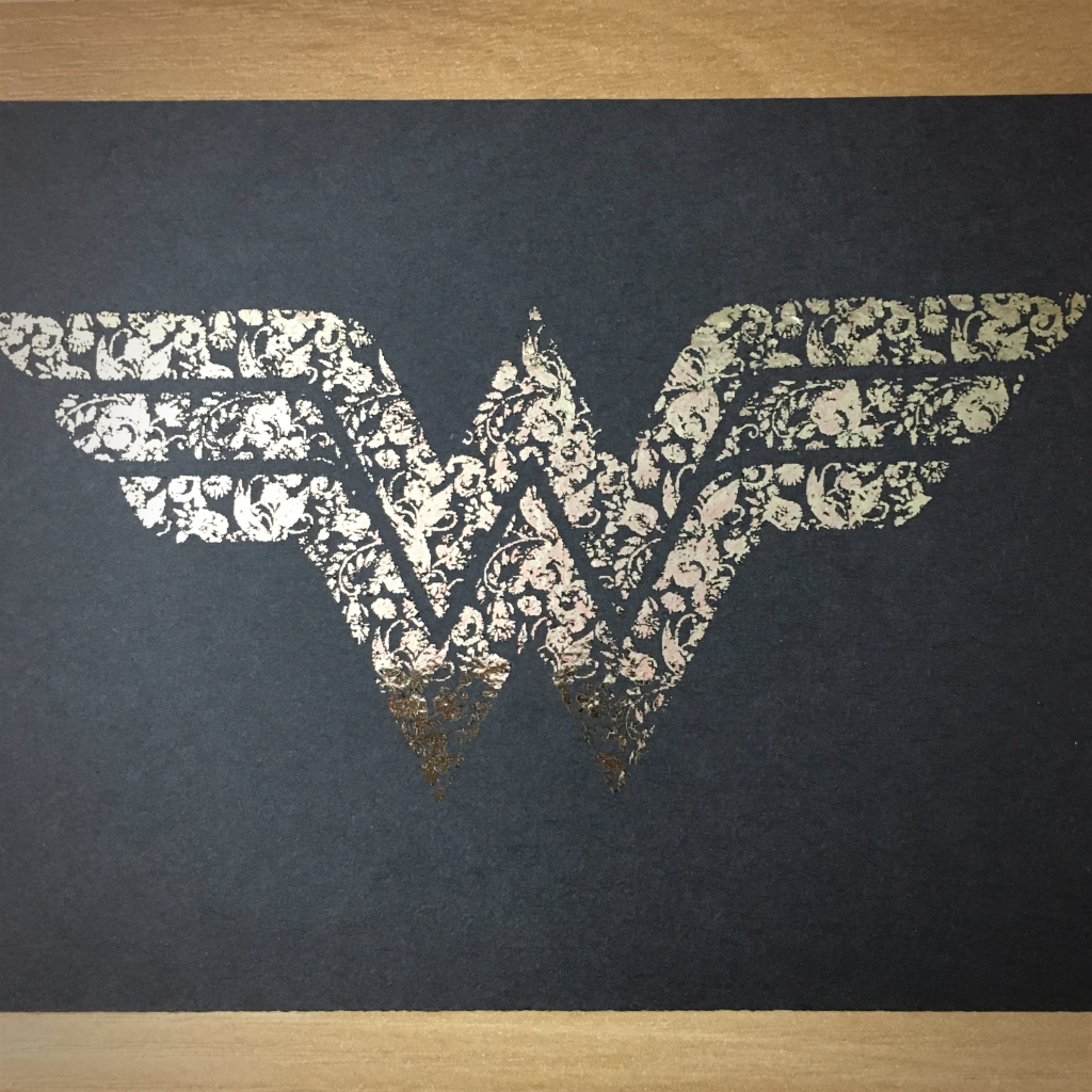 "4x6"" Wonder woman holographic print artholo25"