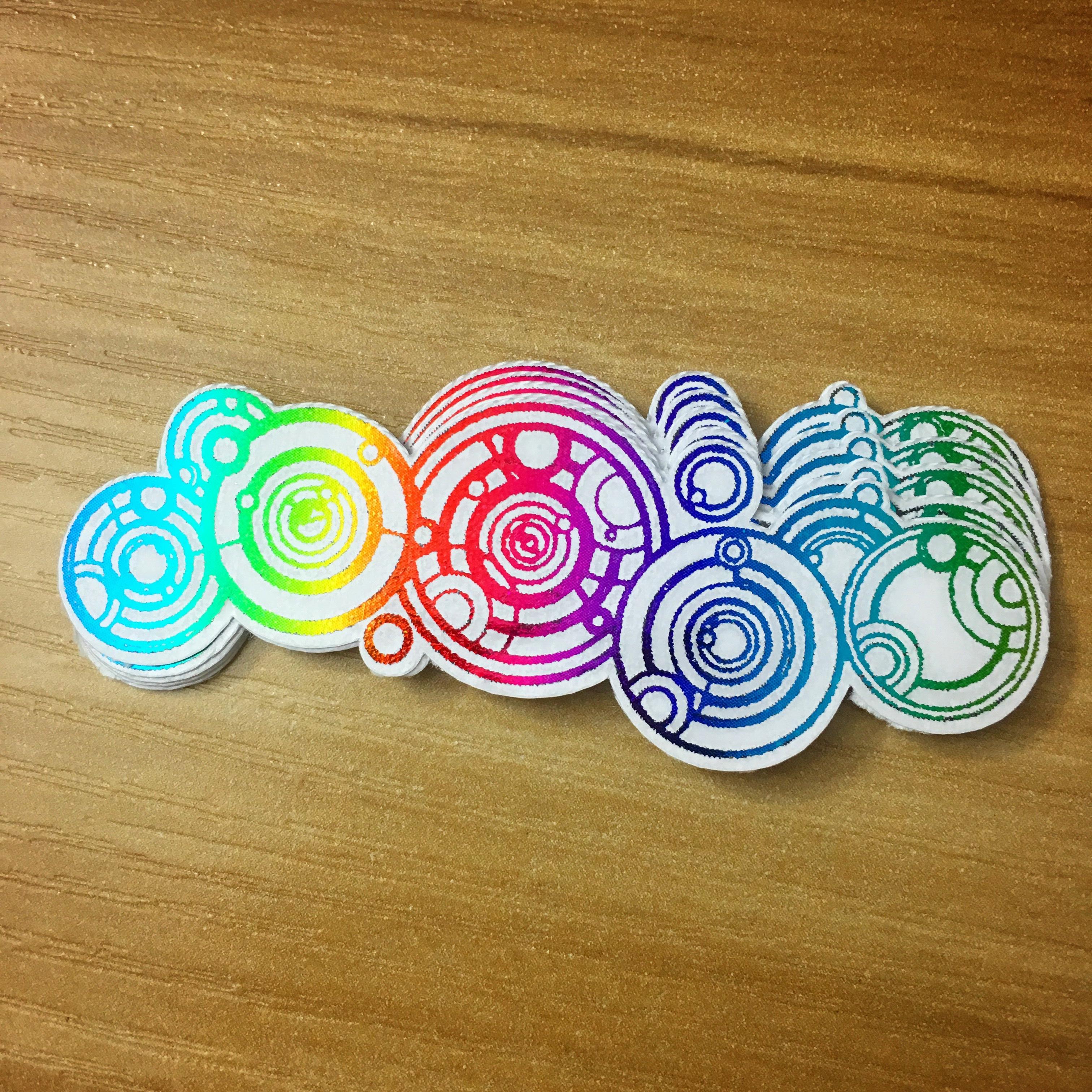 "2.75"" Gallifreyan holographic sticker stck01"