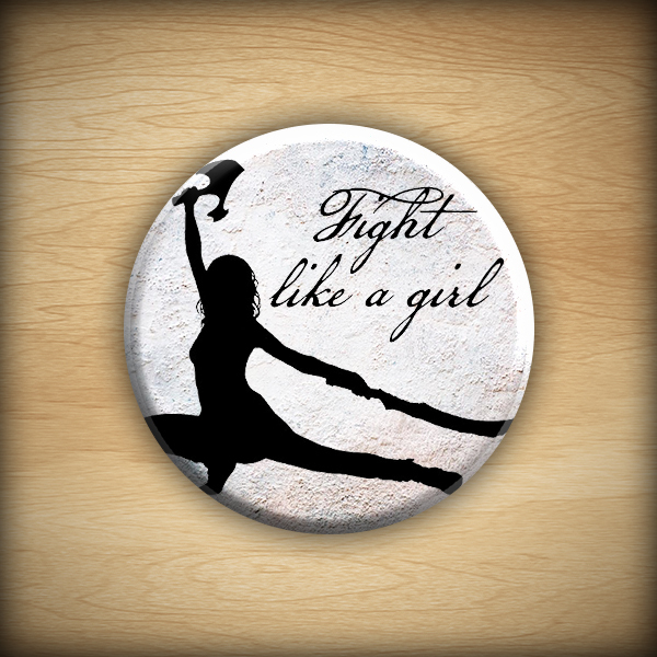 """1.25"""" Fight like a girl button03"""
