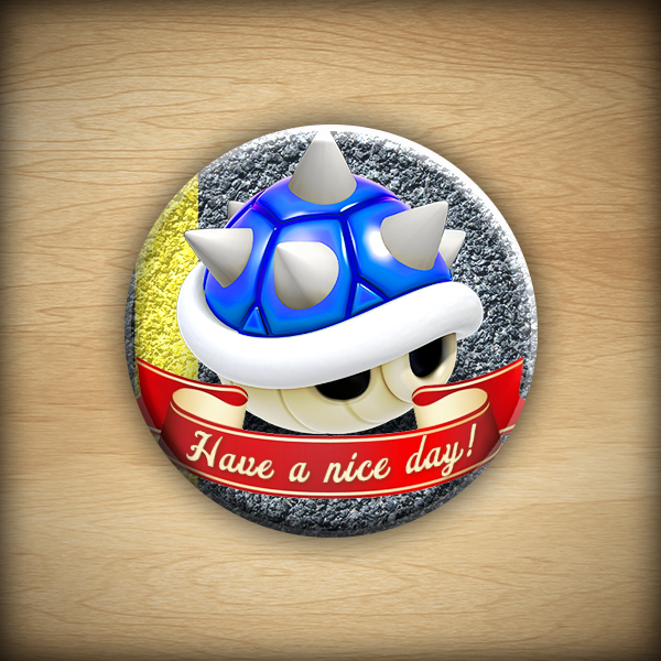 "1.25"" Have a nice day - shell button10"
