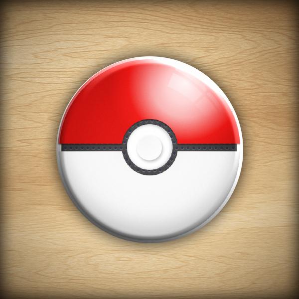 """1.25"""" Pokeball button11"""