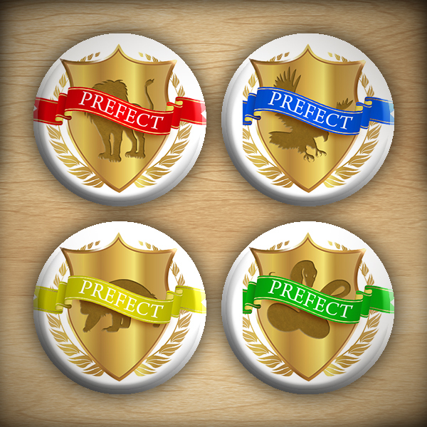 "1.25"" Prefect badge button07"