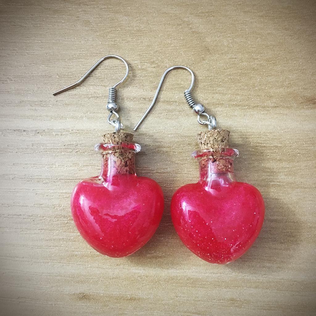 Potion Earrings - Heart Potion005