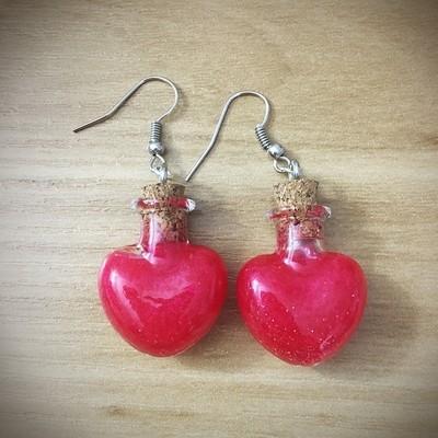 Potion Earrings - Heart