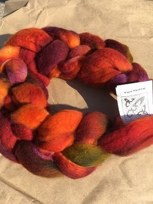 Hand dyed wool combed top (or roving) Handdyed woo