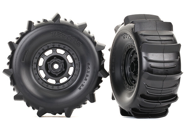 Tires & Wheels, Assembled (Desert Racer Wheels, Paddle Tires, Foam Inserts) (2)