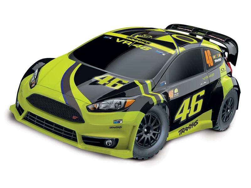 Traxxas Fiesta ST Rally VR46 1/10 4WD (TQ/8.4V/DC Chg)