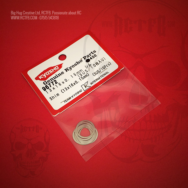 Kyosho Inferno MP9 TKi3 Shims 13x16x0.15mm (10pcs)
