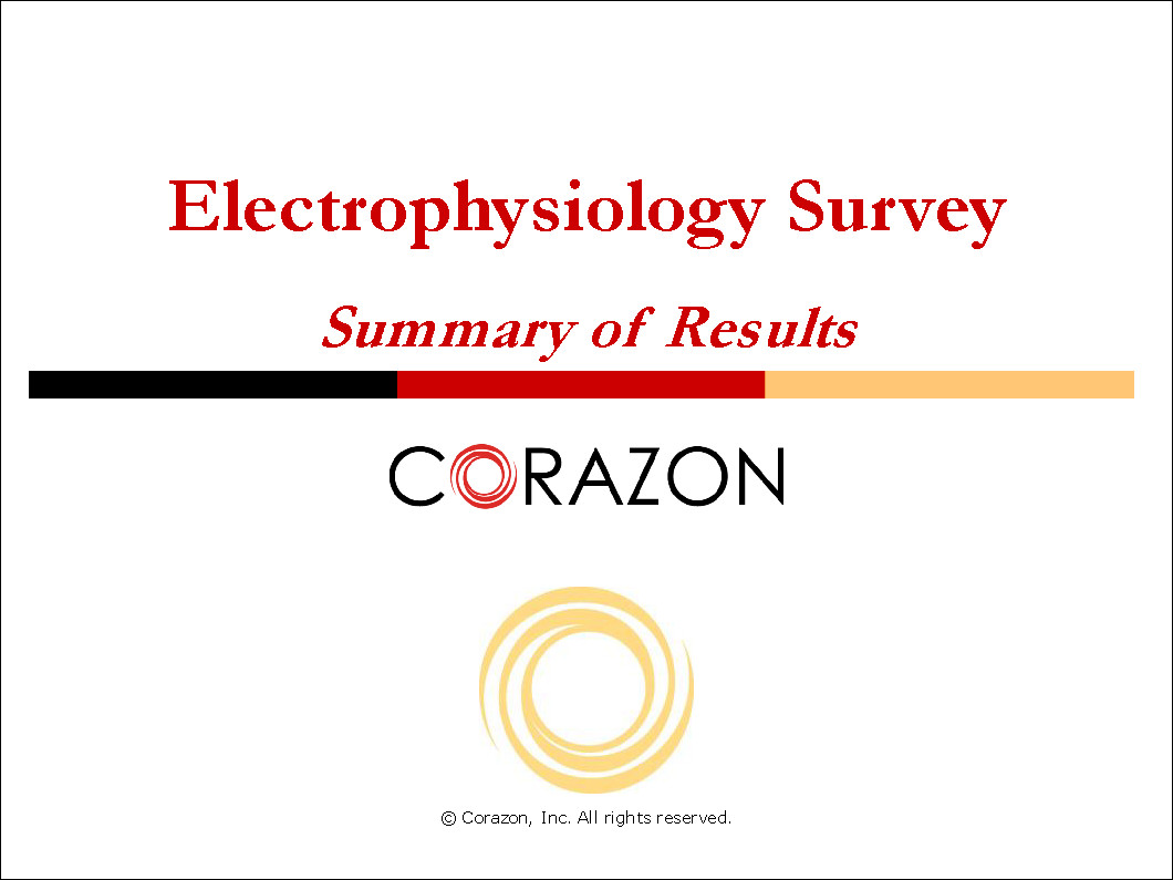 Electrophysiology Survey Summary